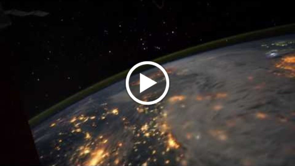 All Alone in the Night   Time lapse footage of the Earth as seen from the ISS music by Giovanni Bonu