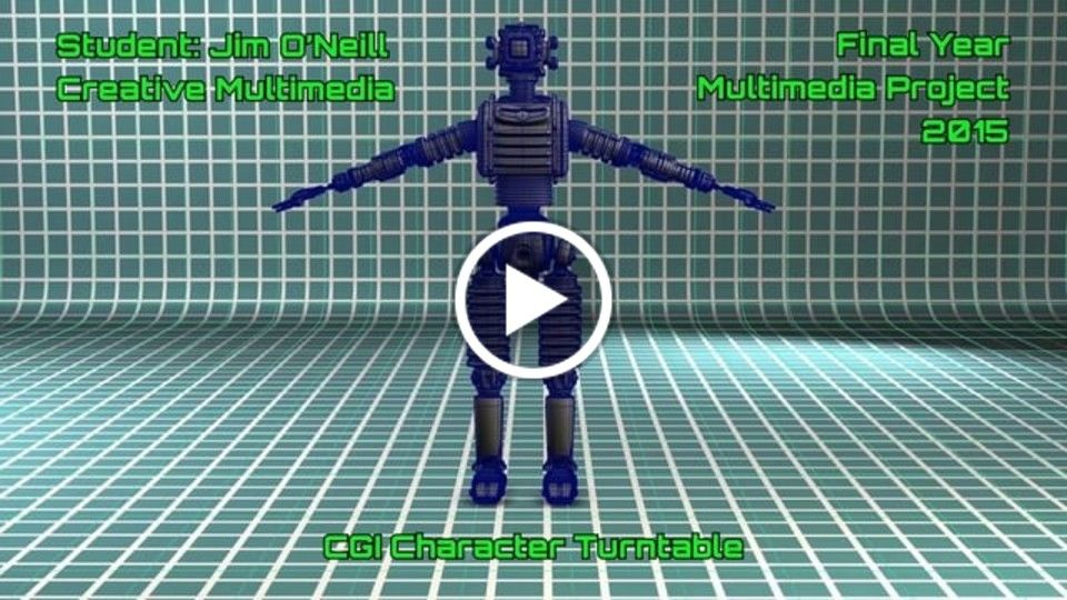 CGI ROBOT CHARACTER TURNTABLE Multimedia Project 2015