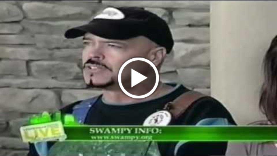 Kent Glade aka SWAMPY on WBKI during Green Week in Louisville Kentucky USA!