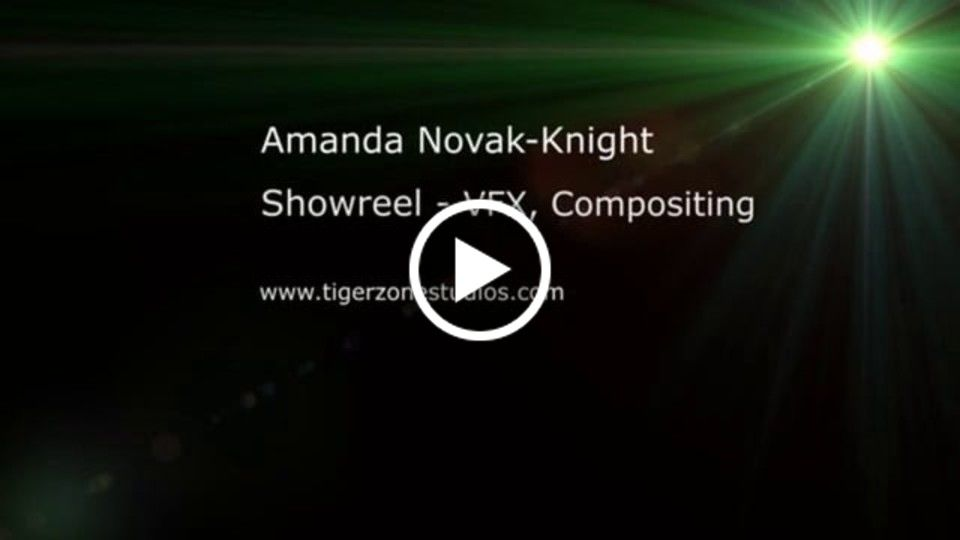 Amanda Novak-Knight Showreel Compositing 2014