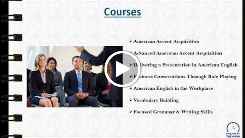 American Accent Training - English by the Hour