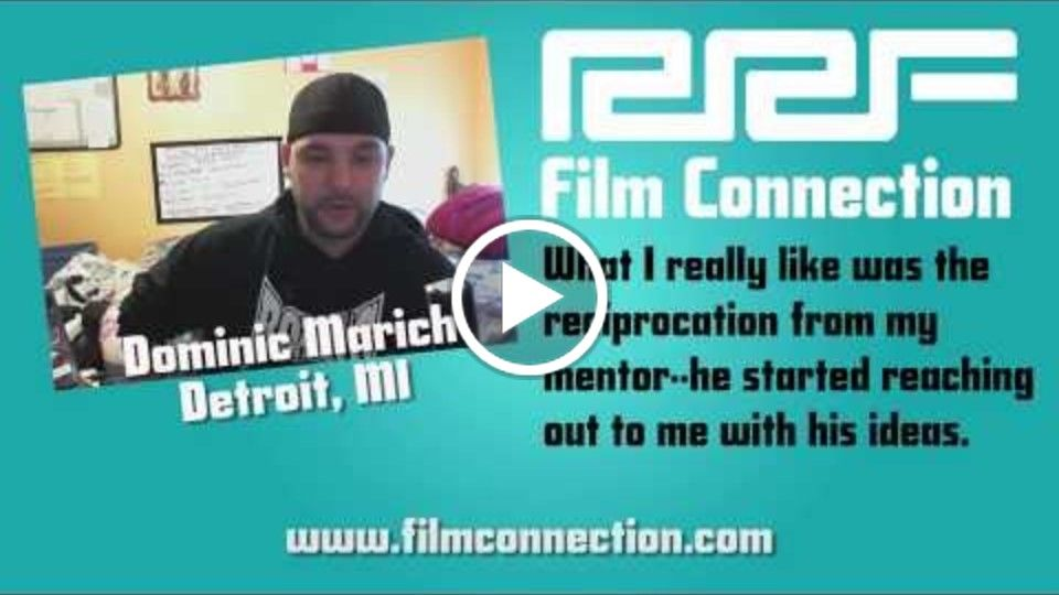 Detroit Film Connection Student Talks About Working With Your Mentor