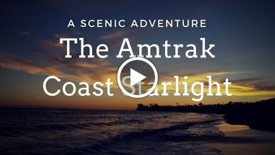 Amtrak Coast Starlight train: Los Angeles to Seattle scenery, dining & Roomette Sleeper Car. Hosted by Dylan Busse