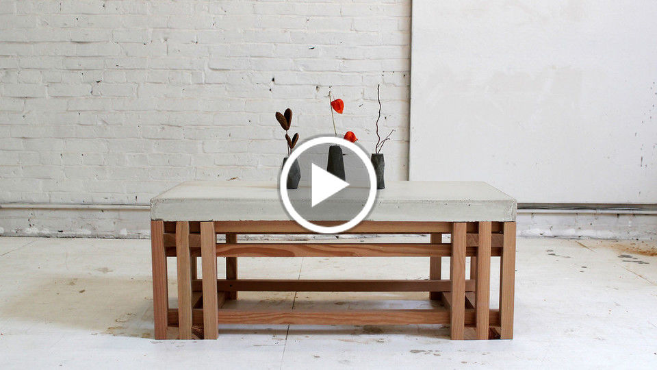 HomeMade Modern, Episode 15 - DIY Concrete + Wood Coffee Table