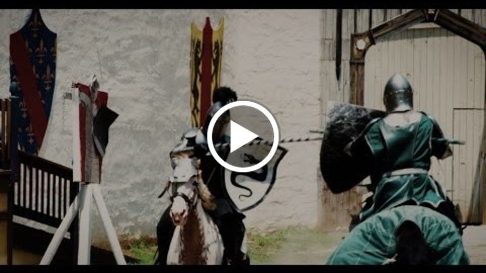 Medieval Knights Battling for Honor : DeBracey Productions Performing LIVE
