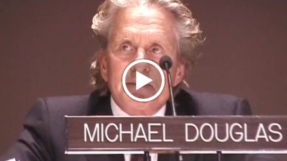 UN AMBASSADOR OF PEACE - Hollywood's Michael Douglas