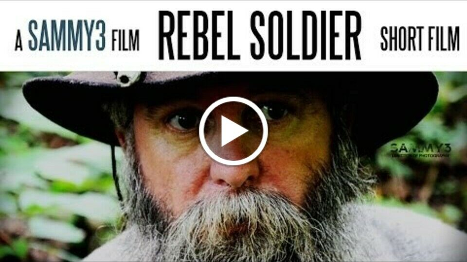 Rebel Soldier  US Civil War Battle Scene (Very Short Film)
