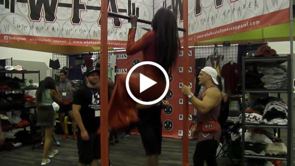 Pull-Ups in a Dress - Ashanti Altovese - 2017 San Jose Fit Expo