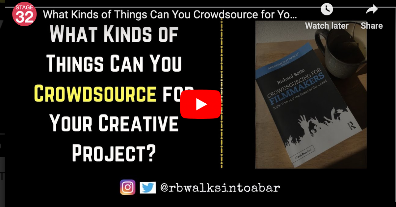 What Kinds of Things Can You Crowdsource for Your Creative Project