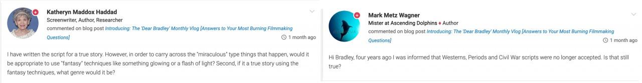 Dear Bradley What Kind of Script Peaks Studio Interest   Other Filmmaking Questions