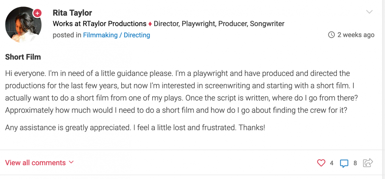 Dear Bradley What Does it Take to Break into Acting   Other Filmmaking Questions