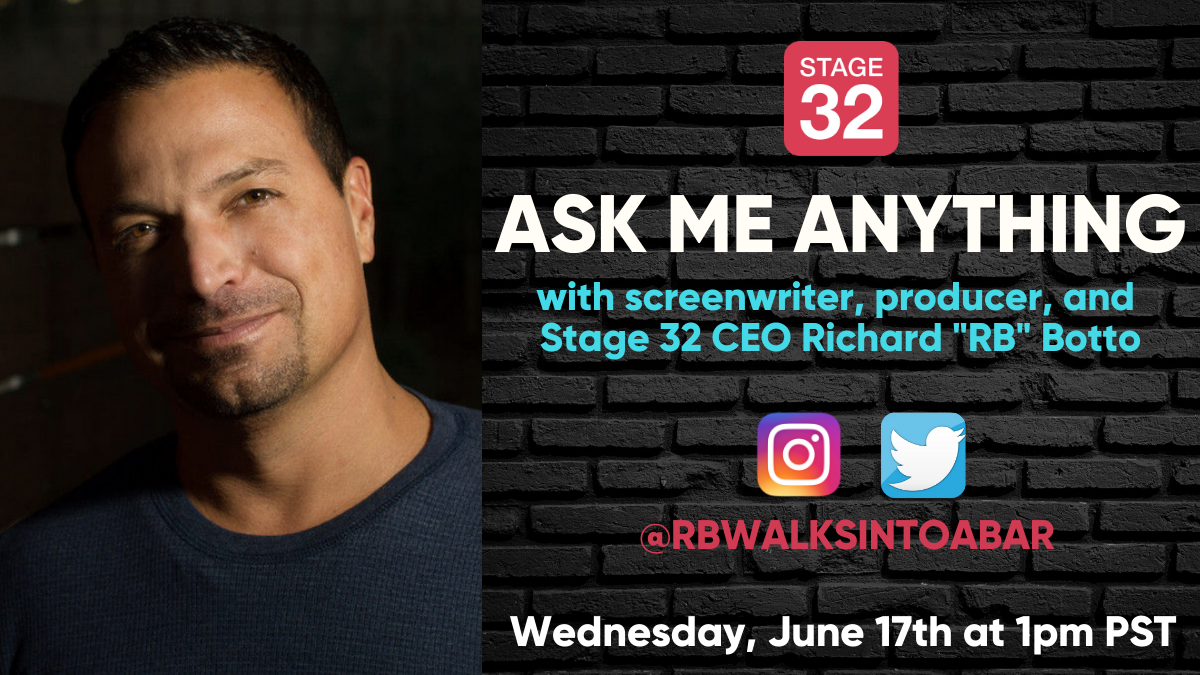 Free Online Ask Me Anything with Stage 32 CEO Richard RB Botto