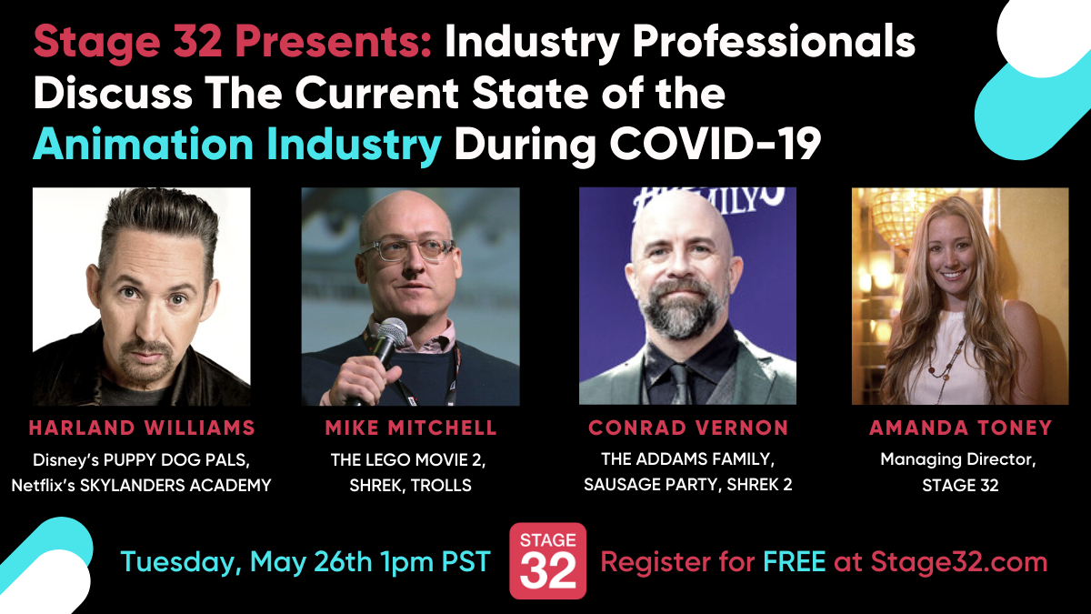 Stage 32 Presents Industry Professionals Discuss The Current State of the Animation Industry During COVID19