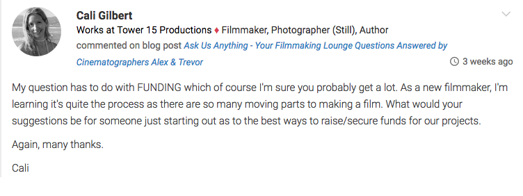 Ask Us Anything  Your Filmmaking Lounge Questions Answered by Cinematographers Alex  Trevor