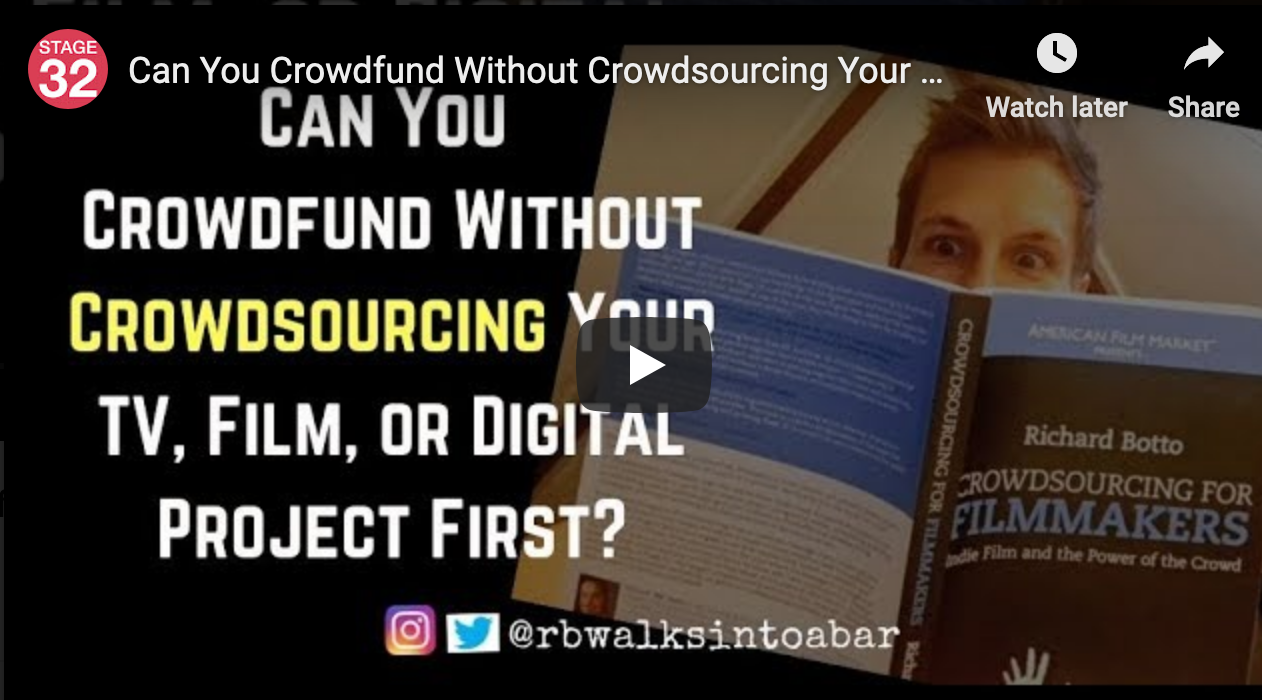 Can You Crowdfund Without Crowdsourcing Your TV Film or Digital Project First