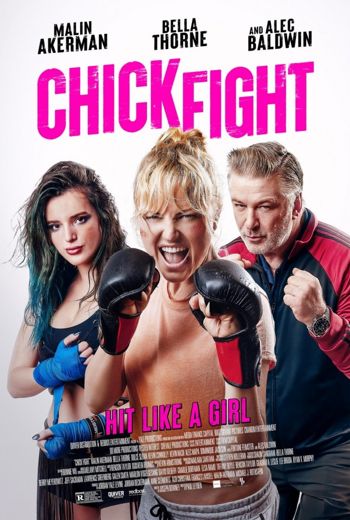 Film That Started as a Pitch on Stage 32 is In Theaters Now CHICK FIGHT Bella Thorne Malin Ackerman Alec Baldwin