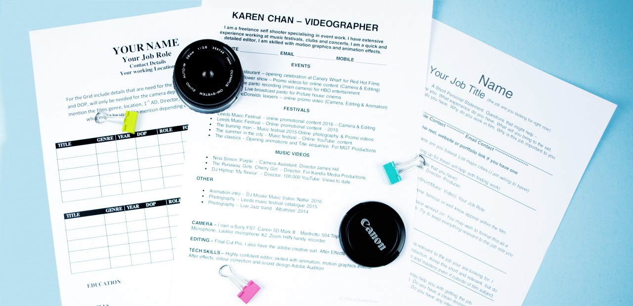 What Your Filmmaker CV Says About You