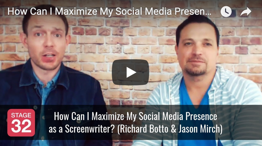How Can I Maximize My Social Media Presence as a Screenwriter by Richard Botto  Jason Mirch