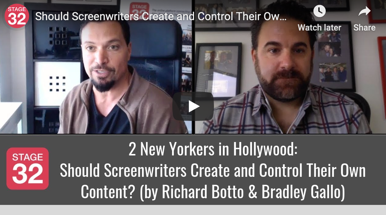 Should Screenwriters Create and Control Their Own Content by Richard Botto  Bradley Gallo