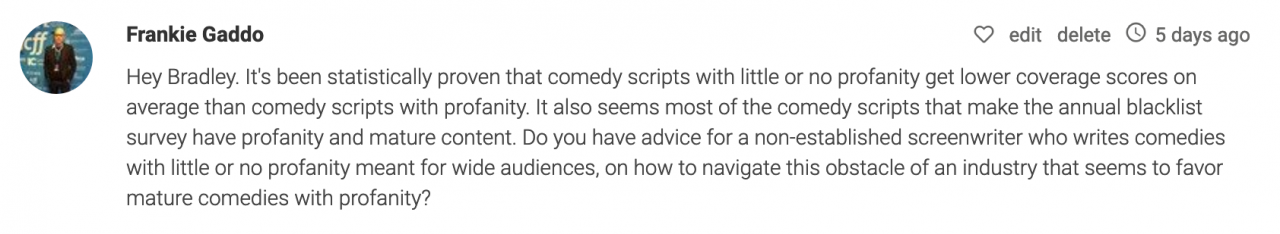 Dear Bradley How Do I Finance My Pilot   Other Filmmaking Questions