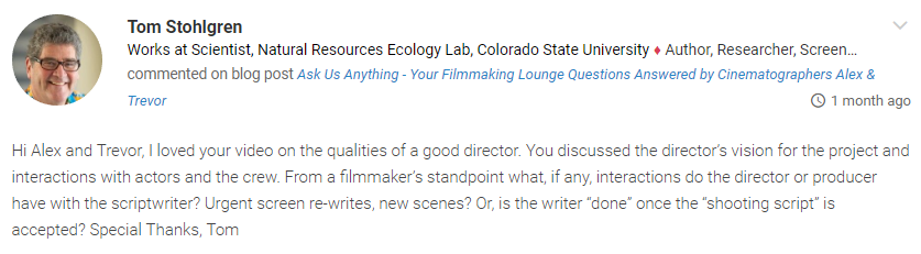 Ask Us Anything  Lounge Questions Answered by Cinematographers Alex  Trevor 3