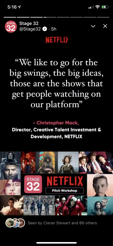 Stage 32  Netflix TV Pitch Workshop Now Available OnDemand for FREE