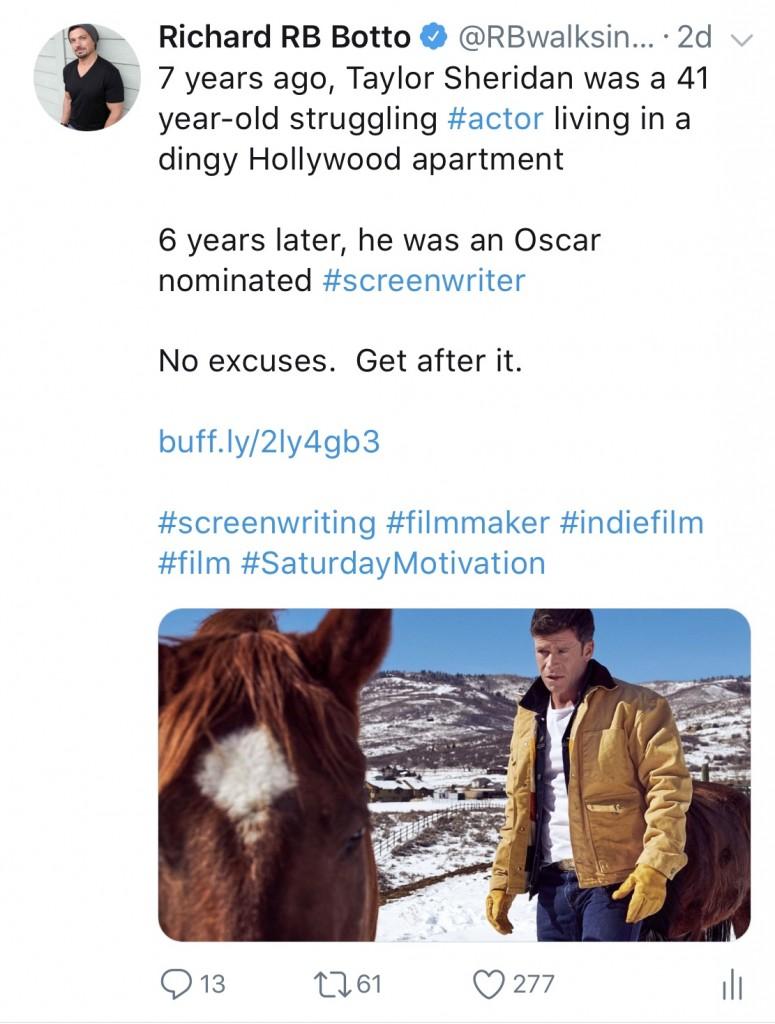 First Time Screenwriter at 41 Oscar Nominated at 46