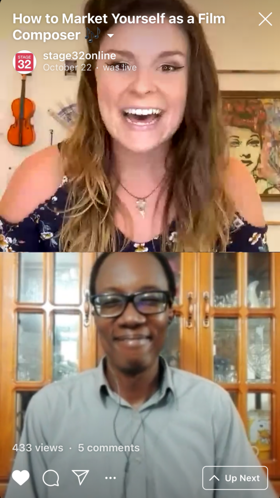 Instagram Live Series How to Market Yourself as a Film Composer  Mastering the ComposerDirector Relationship