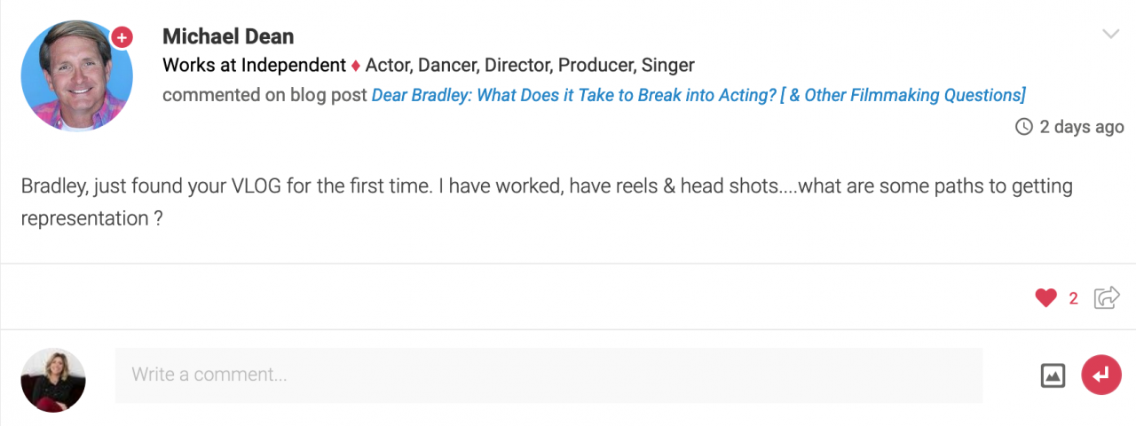 Dear Bradley How Does a FirstTime Producer Find a Director And Other Filmmaking Questions