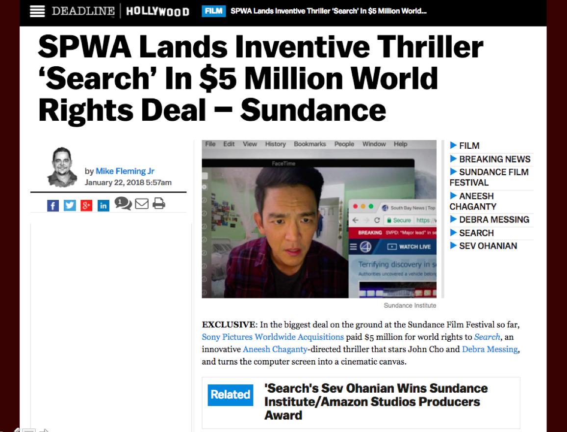 Big News Out of Sundance