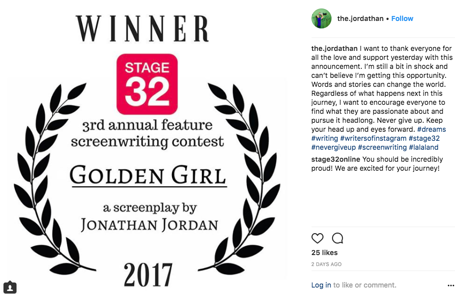 The Winners of the Stage 32 Feature Screenplay Contest