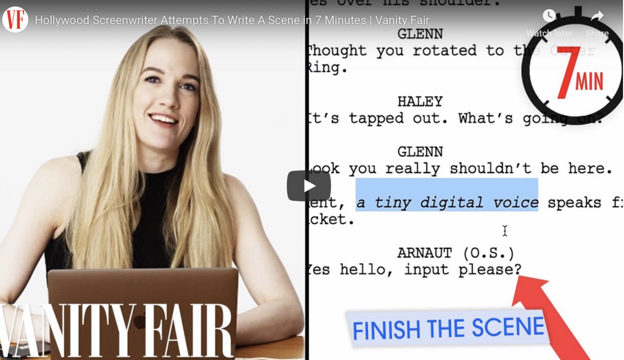 See a Hollywood Screenwrier Write a Scene in 7 Minutes