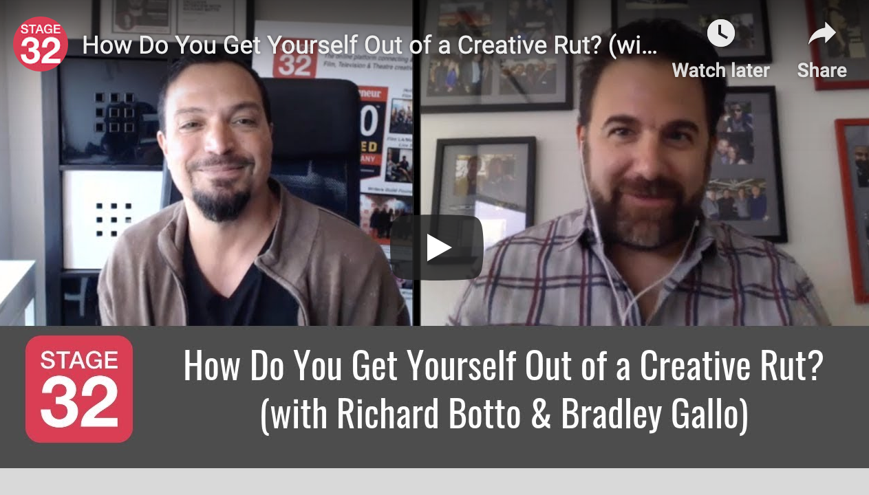 How Do You Get Yourself Out of a Creative Rut with Richard Botto  Bradley Gallo