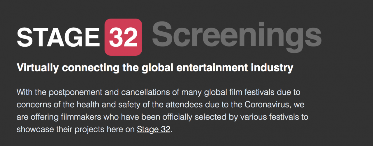 Stage 32 Screenings Expands  Will Screen Films Accepted into Telluride Mountainfilm and Tribeca