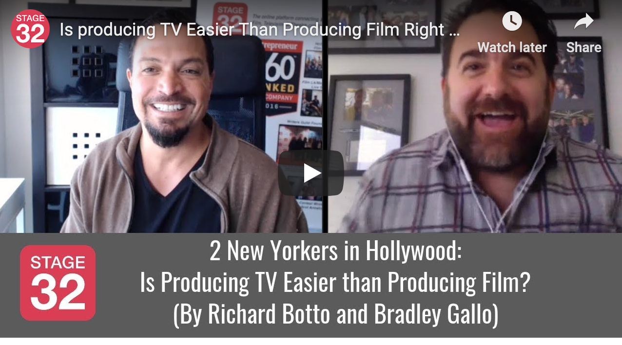 2 New Yorkers in Hollywood Is Producing TV Easier than Producing Film